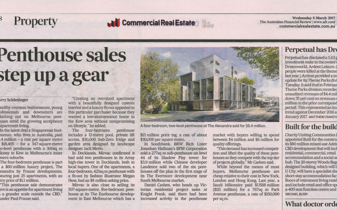 PENTHOUSE SALES STEP UP A GEAR