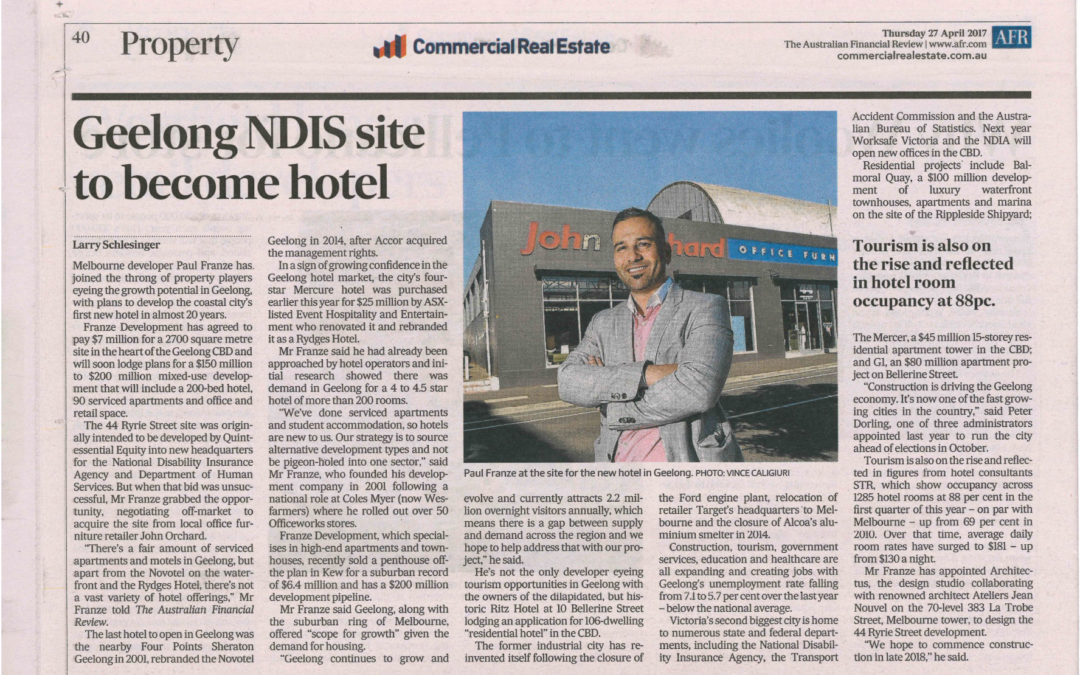 GEELONG NDIS SITE TO BE COME HOTEL